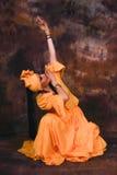 Afro kubańczyka tancerz Obraz Royalty Free