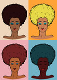 Afro lady color Royalty Free Stock Photography