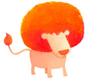 Afro lion. Comic lion with huge afro look stock illustration
