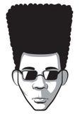 Afro- man Arkivfoton