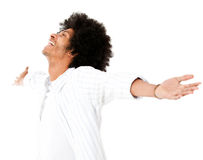 Afro man enjoying Stock Photography
