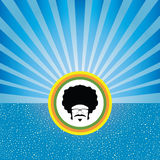 Afro man on retro concept Stock Photo