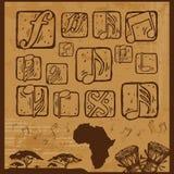 Afro muzyka Obrazy Royalty Free