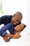 Afro pary amerykański łóżko Obraz Royalty Free