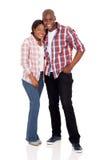 Afro pary amerykański pozować Obraz Royalty Free