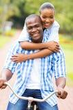 Afro pary amerykański bicykl Obrazy Royalty Free