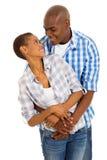 Afro pary amerykański obejmowanie Zdjęcie Stock