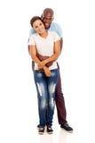 Afro pary amerykański obejmowanie Obrazy Stock