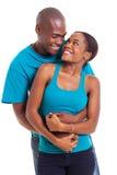 Afro pary obejmowanie Zdjęcia Stock