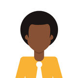Afro people person icon avatar man Royalty Free Stock Photo