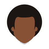 Afro people person icon avatar man Royalty Free Stock Photos