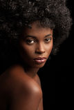 Afro piękno Zdjęcia Royalty Free