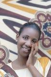 Afro piękno z tradycyjnym henna manicure'em Obraz Stock