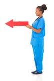 Afro pielęgniarki amerykańska strzała Obrazy Royalty Free