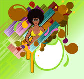 Afro retro girl Royalty Free Stock Photo
