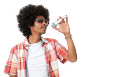 Afro singer Royalty Free Stock Images