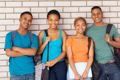 Afro students campus Royalty Free Stock Photos