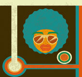 Afro style design Royalty Free Stock Images