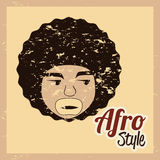 Afro style design Stock Photos