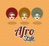 Afro style design Stock Image