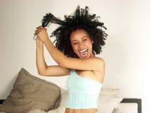 Afro und Kamm. lizenzfreie stockfotos