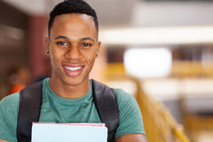 Afro university student Royalty Free Stock Image