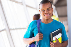 Afro university student Royalty Free Stock Photography