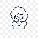 Afro vector icon isolated on transparent background, linear Afro royalty free illustration