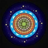 Afro Vinylontwerp, Abstracte Mandala royalty-vrije stock afbeelding