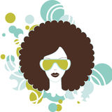 Afro woman. Cool image of woman with afro hairstyle vector illustration
