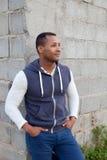 Afroamerican парень на улице стоковая фотография