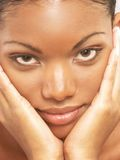 Afroamerican beauty. Royalty Free Stock Image