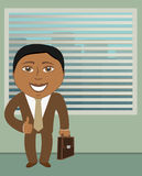 Afroamerican businessman in office Stock Photo