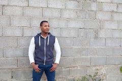 Afroamerican facet na ulicie Fotografia Stock