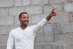 Afroamerican facet na ulicie Zdjęcie Stock