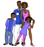 Afroamerican family family Royalty Free Stock Image