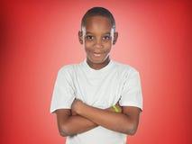 Afroamerican nastolatek chłopiec Zdjęcia Royalty Free