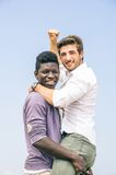 Afroamerican and white man Royalty Free Stock Photo