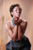 Afroamericano alla moda Immagini Stock Libere da Diritti