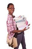 Afroamericano de los jóvenes del estudiante universitario Imagen de archivo