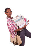Afroamericano de los jóvenes del estudiante universitario Imagenes de archivo