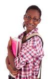 Afroamericano dei giovani dello studente di college Fotografia Stock
