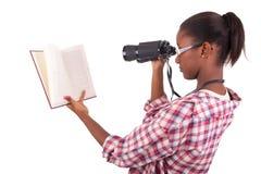 Afroamericano dei giovani dello studente di college Fotografie Stock Libere da Diritti
