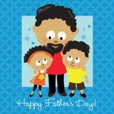 Afroamericano felice di giorno del padre Immagine Stock Libera da Diritti