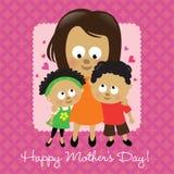 Afroamericano feliz del día de madre stock de ilustración