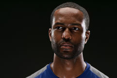Afroamerikaner-Athlet Portrait With Blank Expre Lizenzfreie Stockbilder