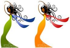 Afroamerikaner-Frauen-Schönheit Stockfotos