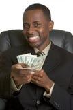 Afroamerikaner-Geld-Mann Stockfotos