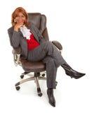 Afroamerikaner-Geschäftsfrau Stockfoto