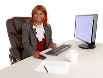 Afroamerikaner-Geschäftsfrau lizenzfreie stockbilder